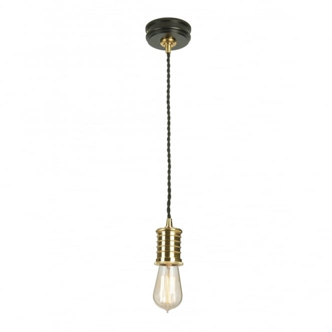 DOUILLE - Black/Polished Brass Ceiling Pendant