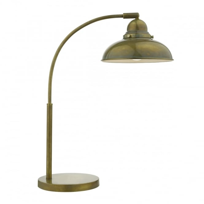 DYNAMO - 1 Light Table Lamp Weathered Brass