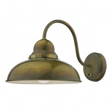 DYNAMO - 1 Light Wall Bracket Weathered Brass , Switched