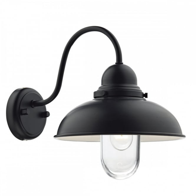 DYNAMO - Exterior 1 Light Wall Bracket Matt Black Ip44