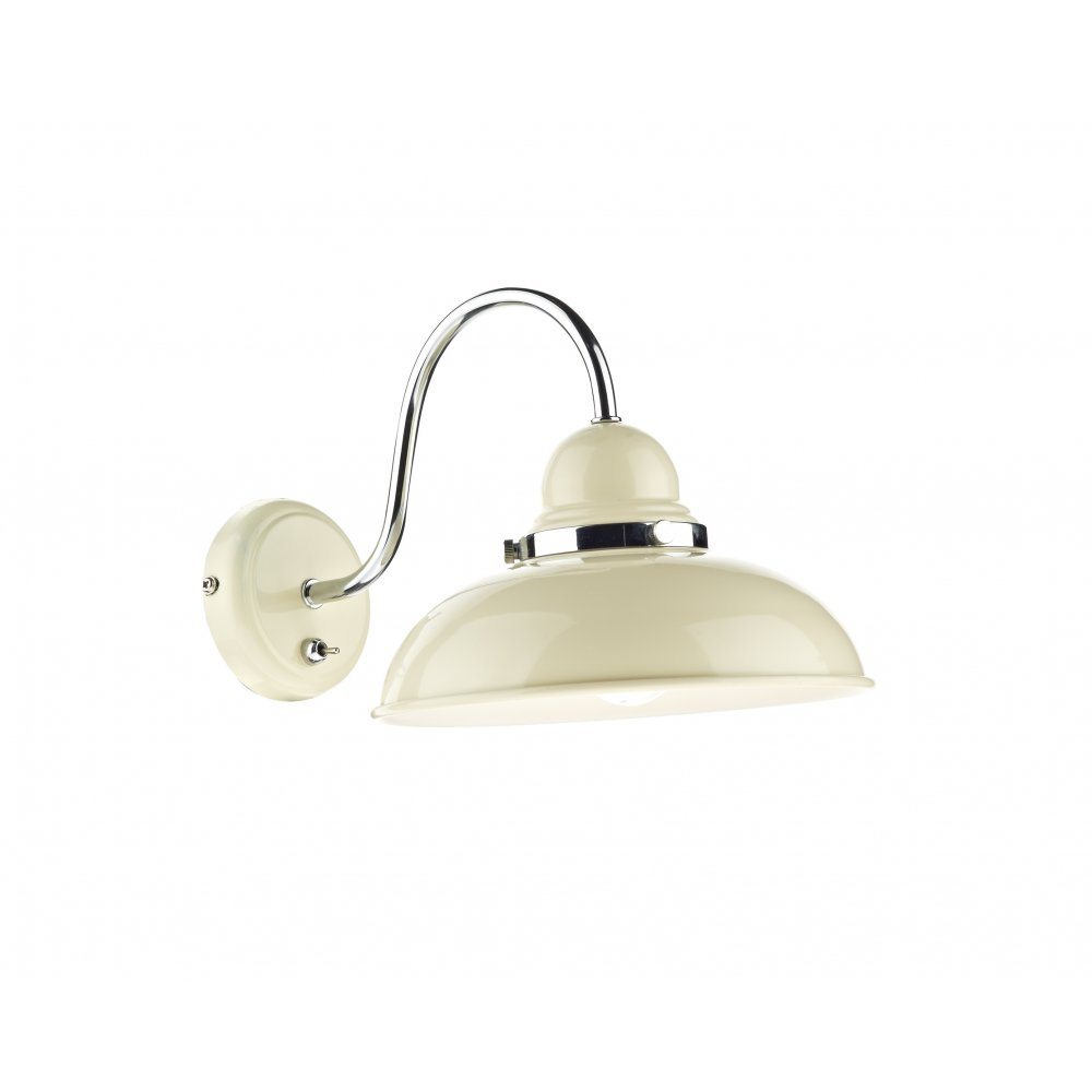 Retro cream finished single wall light switched class 2 dynamo traditional retro style cream wall light switched aloadofball Image collections