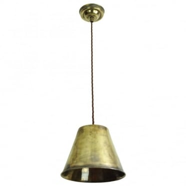 MAP - Room Ceiling Pendant Antique Brass C/W Lb4 Bulbs
