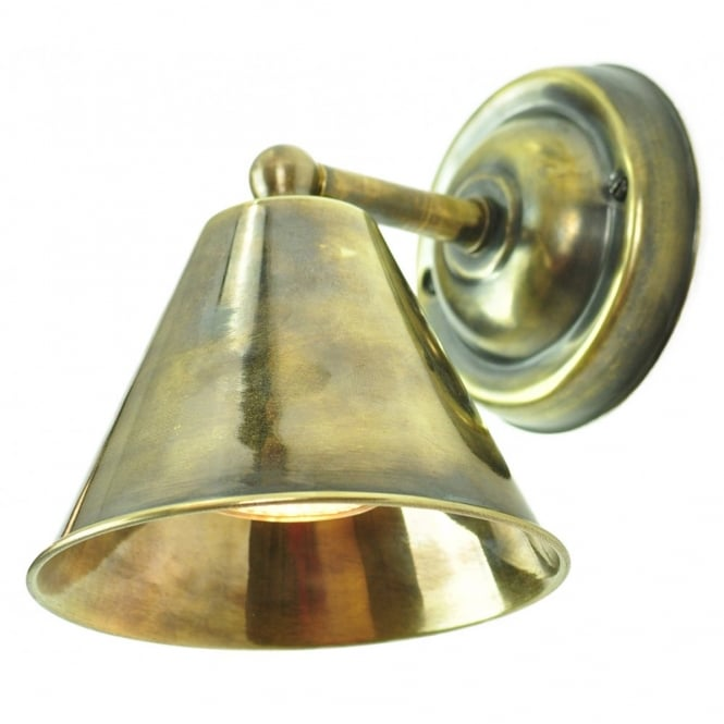 MAP - Room Wall Antique Brass C/W Lb4 Bulbs