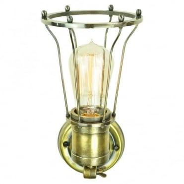 MARCONI - Adjustable Wall/Ceiling Light Antique Brass C/W Lb2 Bulbs