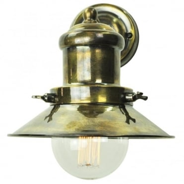 SMALL - Edison Wall Antique Brass C/W Lb3 Bulbs