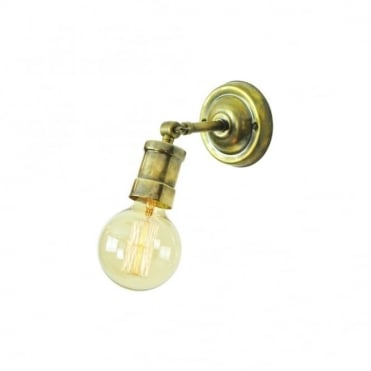 TOMMY - Adjustable Wall/Ceiling Light Antique Brass C/W Lb3 Bulbs