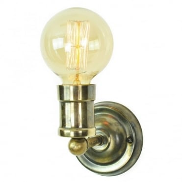 TOMMY - Wall Antique Brass C/W Lb3 Bulbs