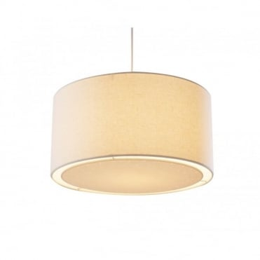 EDWARD - Easy Fit Cream Ceiling Light Shade