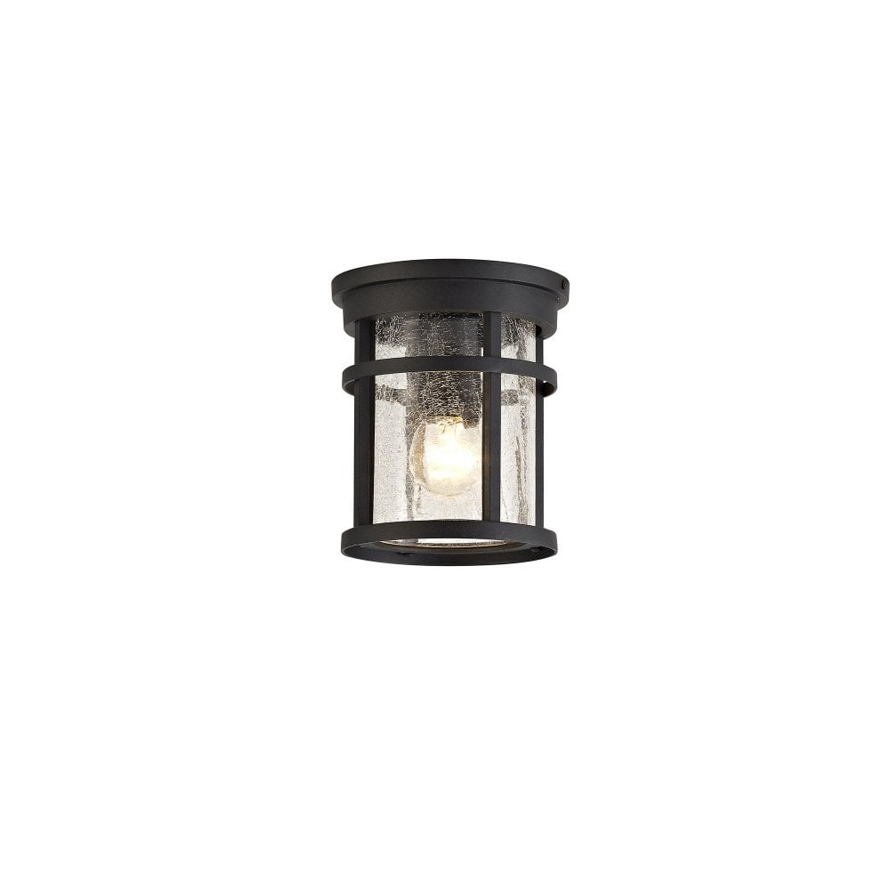 Outdoor Ceiling Light Black Crackled Glass Lighting And Lights Uk