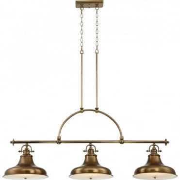 EMERY - Weathered Brass Island Chandelier
