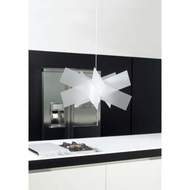 KARTIKA Large Contemporary Geometric Ceiling Pendant White