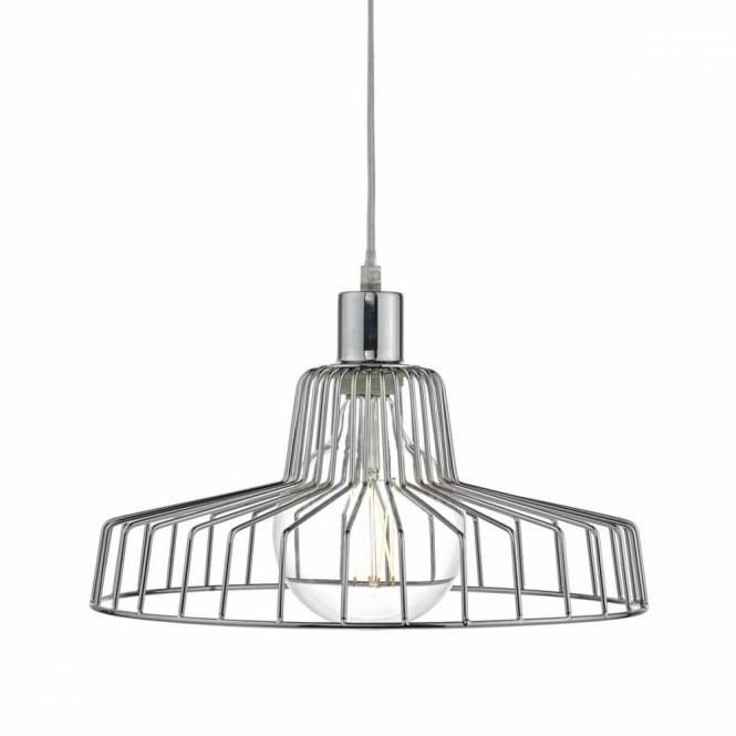 ENID - Polished Chrome Easy Fit Frame Pendant Shade