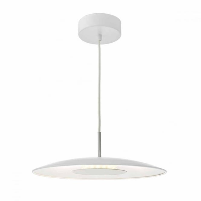 ENOCH - White and Satin Chrome LED Ceiling Pendant