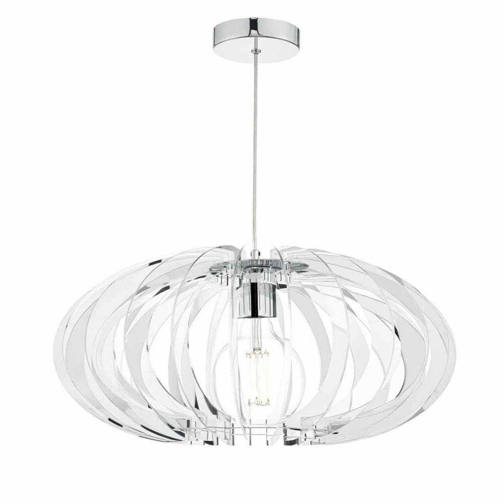 Enzo chrome and mirrored acrylic pendant light lighting and lights uk enzo chrome and mirrored acrylic pendant light aloadofball Images