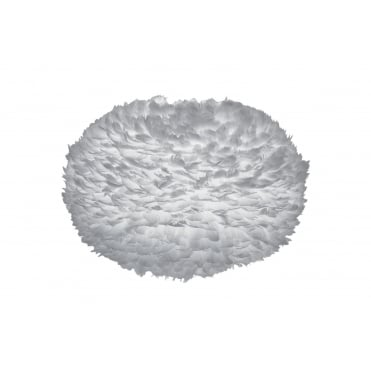 EOS Easy Fit Feather Ceiling Shade Extra Large Grey 75cm Diameter
