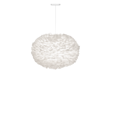 EOS Easy Fit Feather Ceiling Shade Extra Large White 75cm Diameter