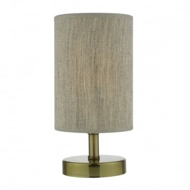 ERYN - Antique Brass C/W Shade Touch Table Lamp