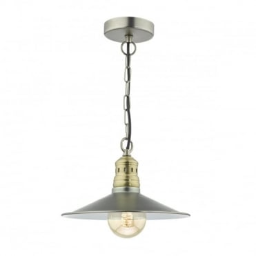 ESRA - 1 Light Ceiling Pendant Antique Chrome Antique Brass Antique Chrome