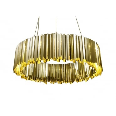 FACET - 100cm Diameter Luxury Ceiling Pendant Polished Brass