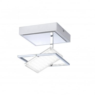 FANTINO - LED Wall Light Chrome in Chrome
