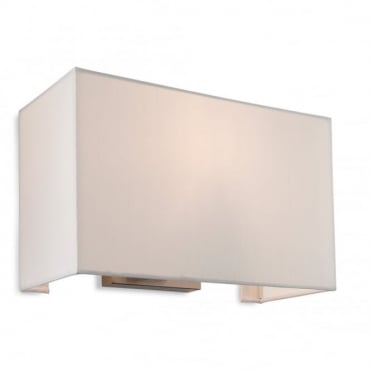 FARGO Single Wall Light, Brushed Steel with Cream Shade