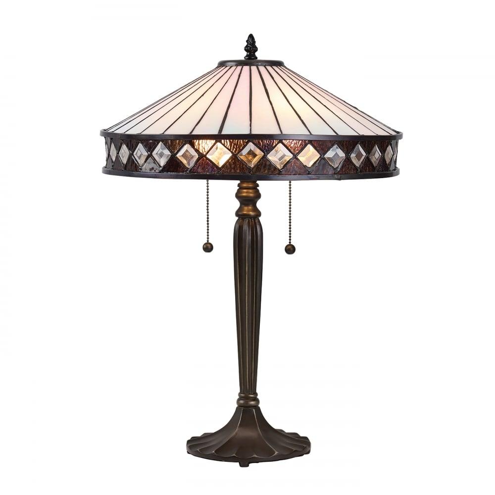 Fargo Tiffany Art Deco Style Table Lamp