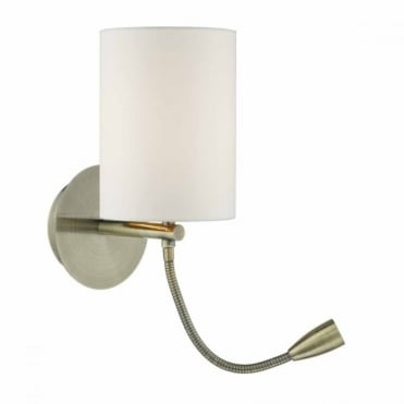 FETA - LED Wall Light Antique Brass Base Only , Switched