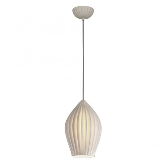 FIN - Large Ceiling Pendant Grey Braided Cable