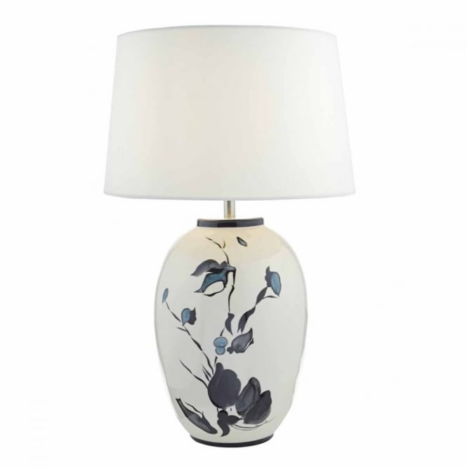 FIONN - Table Lamp Painted White with Shade