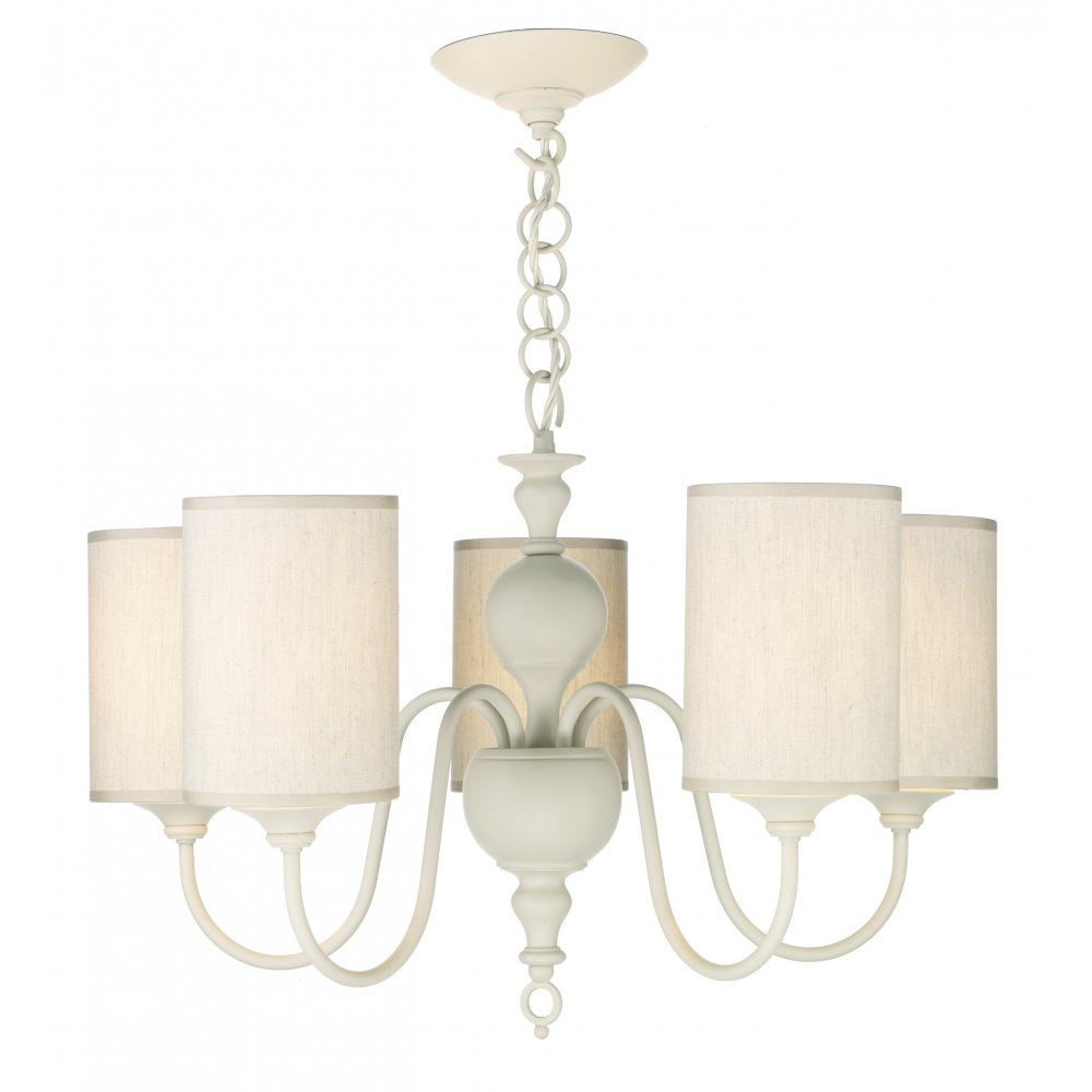 Cream ceiling light shades centralroots traditional cream ceiling pendant light with 5 fabric shades included aloadofball Gallery