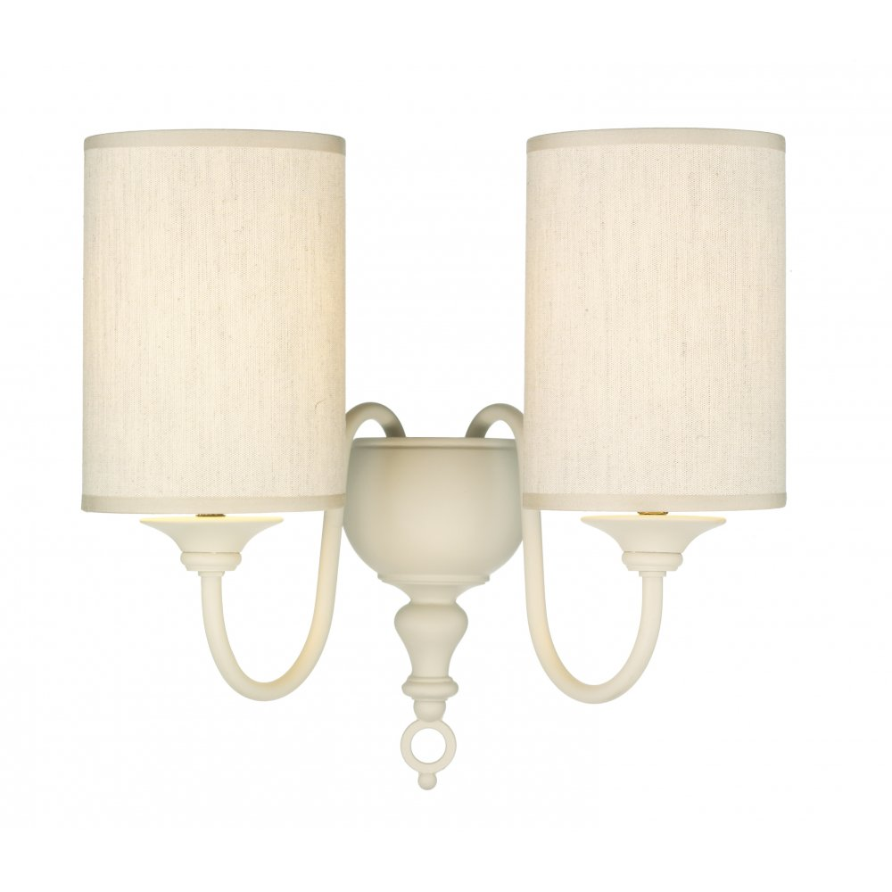 Double cream wall light in classic flemish style with naural shades mozeypictures Images