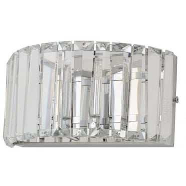 FOYLE - Chisel Crystal Bathroom Wall Light with LED Bulbs Included