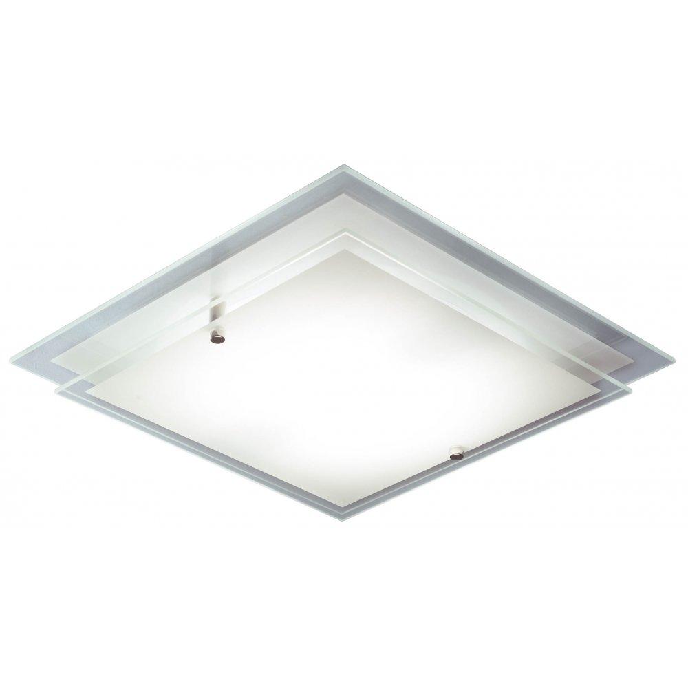 Frame flush fitting square halogen ceiling light