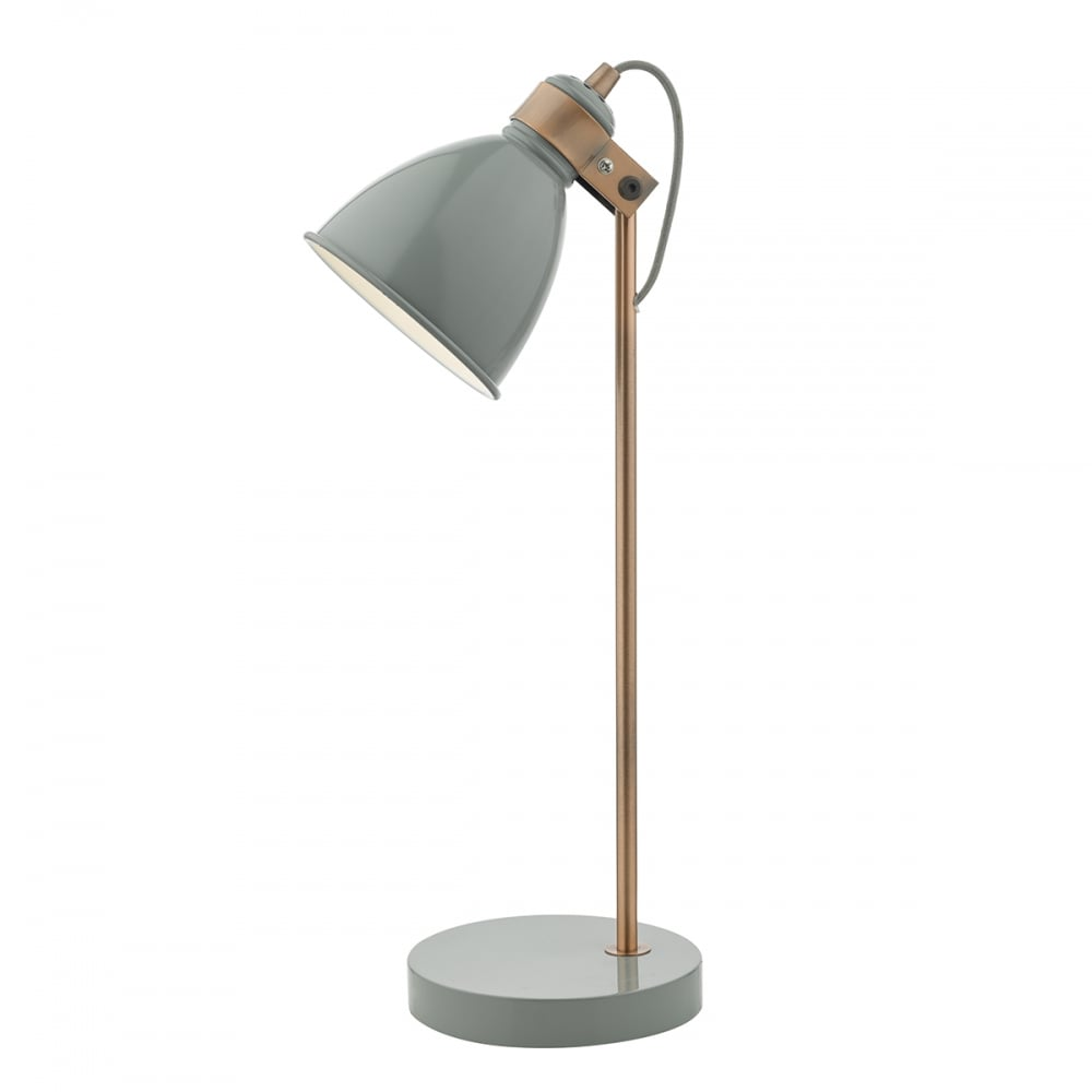 Frederick Table Lamp Gloss Grey Copper Grey