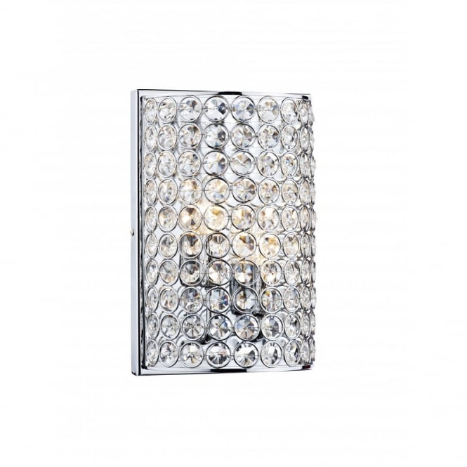 FROST - Chrome and Crystal Wall Light , Switched