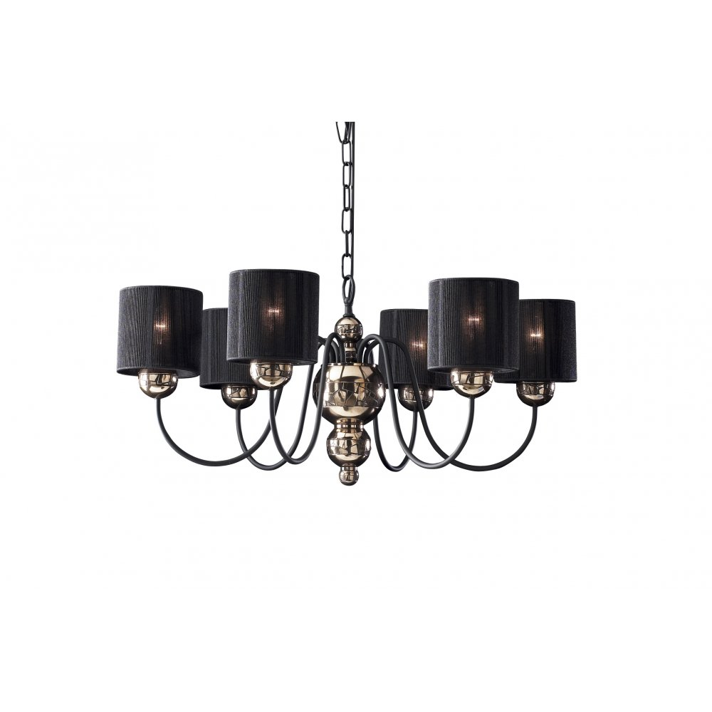 Garbo Bronze Black High Ceiling Light