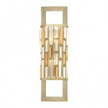 GEMMA - 2 Light Wall Light in Gold, Clear, Antique Silver