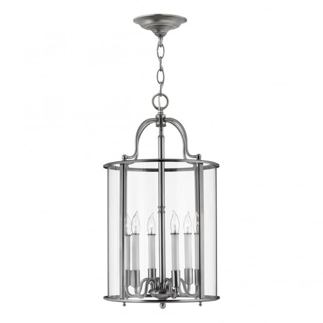 GENTRY - Large Ceiling Pendant in Chrome, Clear
