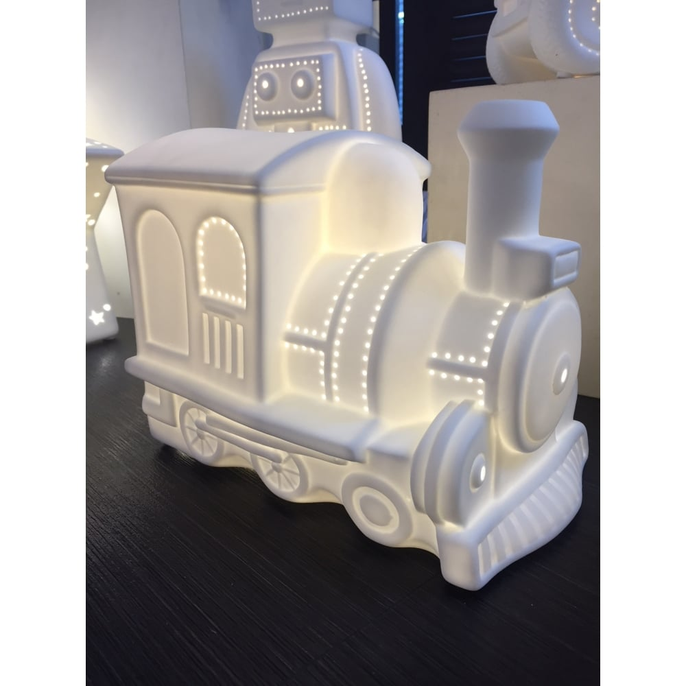 Porcelain Gorgeous Table Ceramic Train Lamp 1JulKc3TF
