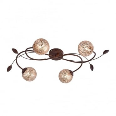 GRETA - Ceiling Light Rust in Gold, Brown