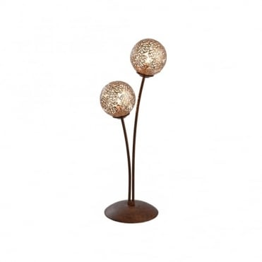 GRETA - Table Lamp Rust in Gold, Brown