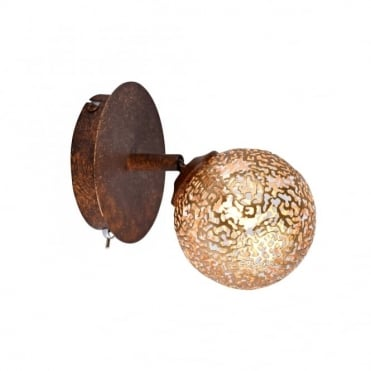 GRETA - Wall Light Rust in Gold, Brown