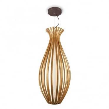 BAMBOO - Elegant and Large LED Ceiling Pendant or Floor Lamp