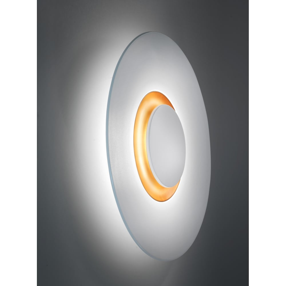 Large Wall Light Disc White - Lighting and Lights UK