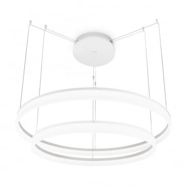 CIRC - Large LED Ceiling Pendant in Matte White - 1m Diameter