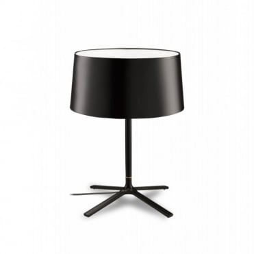 HALL - Matte Black Table Lamp with Shade