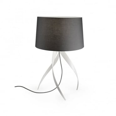 MEDUSA - Sculptured Table Lamp Lamp Matte White Grey Shade