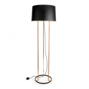 PREMIUM - Black and Polished Copper Floor Lamp