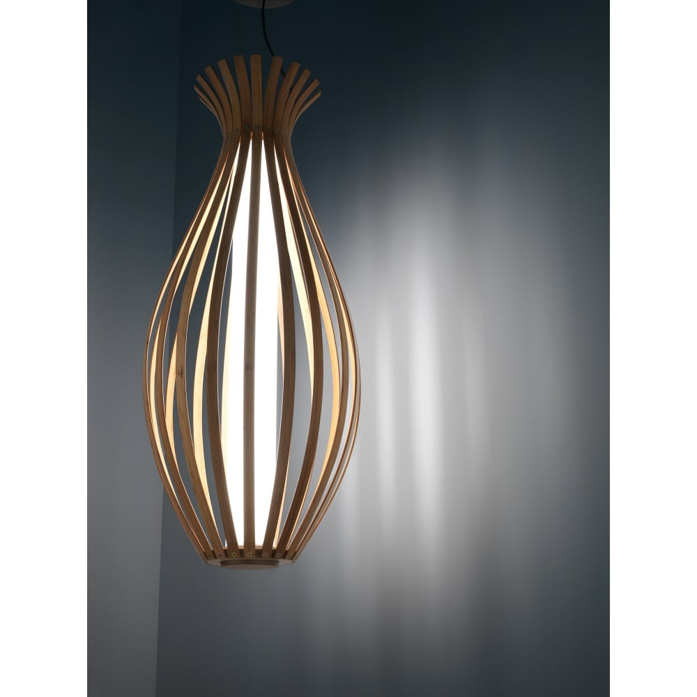 Bamboo 330 Led 22w Painted Rust Ceiling Pendant Lighting And Lights Uk