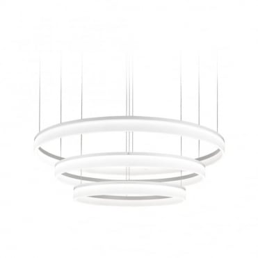 CIRC - 1512 X LED Refond 89W Matte White Ceiling Pendant